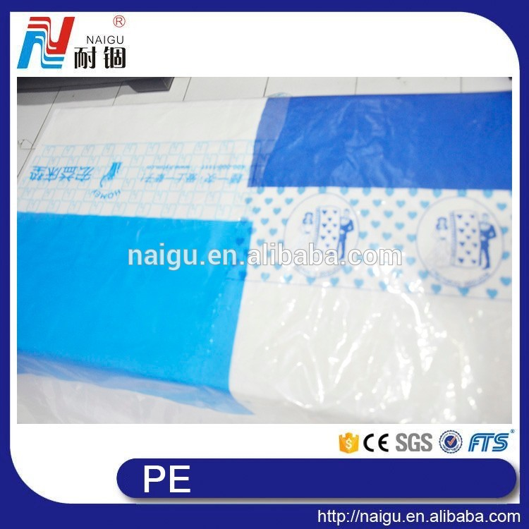 China NaiGu factory big size plastic PE printed perforated bag on roll